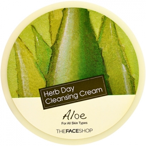 THE FACE SHOP~ Очищающий крем c алоэ~Herb Day Massage Cream Aloe