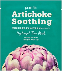 Petitfee~Гидрогелевая маска с экстрактом артишока~Artichoke Soothing Hydrogel Face Mask