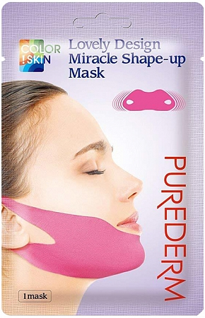 Purederm~Маска-бондаж для подбородка~Lovely Design Miracle Shape-up Mask